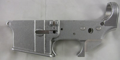 Anderson Manufacturing 7075 forged 80% lower receiver left side