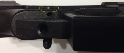 Polymer80 G150 80% lower receiver safety sticks out
