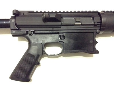 Polymer80 WarrHogg 308 AR-10 style 80% lower receiver attached right